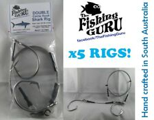 5x DOUBLE Circle Shark Rig - 200Lb SS Wire Rope, 15/0 Circles - MADE in STH AUS!