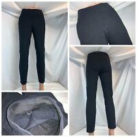 "Kit Ace Stretch Casual Pants Sz 4 Women Navy Blue Poly Nylon 28"" In YGI A1-486"