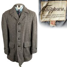 New listing Vintage 1950s Chippewa Woolen Mills Tweed Car Coat Jacket 40