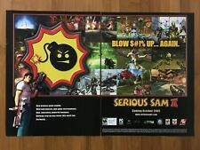 Serious Sam II 2 PC Xbox 2005 Vintage Game Poster Ad Art Official Promo FPS Rare