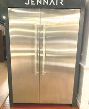 "JennAir Noir Side by Side 30"" Refrigerator & 24"" Freezer Columns Stainless Steel"