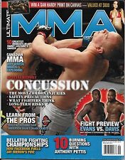 Ultimate MMA fight magazine Concussions Anderson Silva Anthony Pettis Jay Hieron
