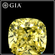 0.42ct Natural Loose Diamond- Fancy Yellow -VVS2-Cushion-GIA Cert