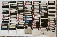 "Vintage Commodore 64 C64 128 Huge Games Utilities Lot 88 5.25"" Floppy Disks"