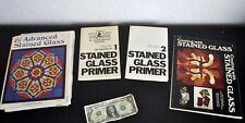 Mollica STAINED GLASS PRIMER Volumes 1 & 2 Beginner Starter PLUS template books