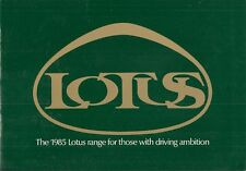 Lotus Esprit S3 Turbo Excel 1985 UK Market Sales Brochure