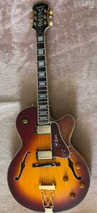Epiphone Joe Pass Emperor Electro Acoustic Hollow Body Jazz Guitar And Hard Case
