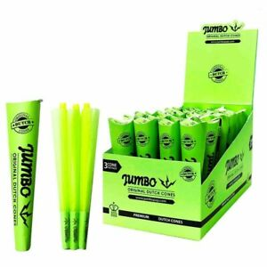 Jumbo Green Dutch Pre-Rolled Cones Cigarette Smoking 3 Cones Per Pack King Size