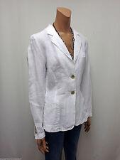 Einreihige unifarbene Damen-Anzüge & -Kombinationen aus Leinen mit Jacket/Blazer