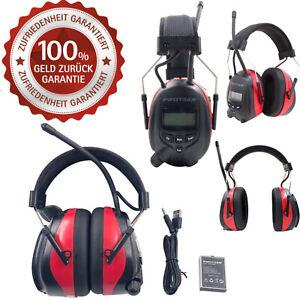 Protear Gehörschutz mit DAB + FM-Radio Bluetooth Kabellose Kopfhörer Mikrofon