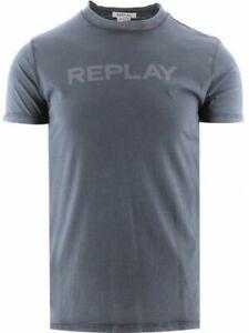 Replay Grey Organic Cotton T-Shirt
