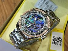 24453 Invicta Women's Bolt Quartz Multi Function Abalone Dial SS Bracelet Watch