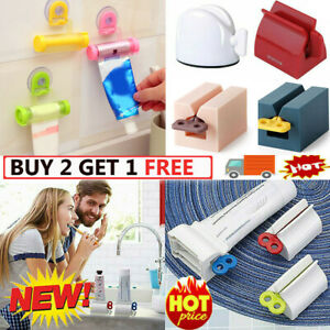 Rolling Tube Toothpaste Squeezer Toothpaste Easy Dispenser Seat Holder Stand HOT