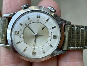 RARE 1960's JAEGER LECOULTRE  ALARM  MEMOVOX 814 ORIGINAL DIAL STAINLESS WORKS