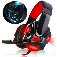 For Xbox Nintendo Switch PC 3.5mm Stereo Headphones Mic LED Gaming Headset D