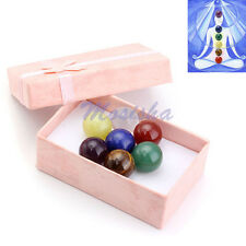 16mm Natural Gemstone Round Ball Crystal Healing Decor Statue Sphere with Box