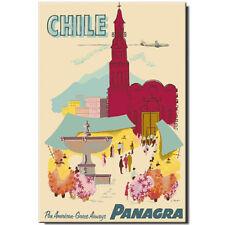 Fridge magnet Vintage Travel Poster: Chile Santiago