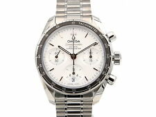 Omega Speedmaster 38mm Co-Axial Chronograph Silver Dial Herrenuhr/Unisex 324....