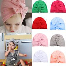 Baby Boy Girl Infant Newborn Beanie Cotton Wrapped Cap Winter Warm Turban Hat
