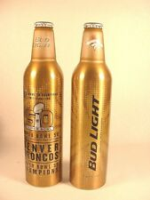 NEW 16 OZ BUD LIGHT DENVER BRONCOS 50TH SUPER BOWL PEYTON MANNING FAST SHIP
