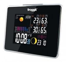 Funk Wetterstation Froggit WS50 Schwarz Full Color Display, Funkuhr, Wecker