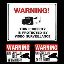 LOT HOME STORE VIDEO SECURITY CAMERA ALARM SYSTEM OUTDOOR WARNING SIGN+STICKERS