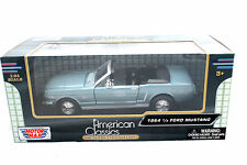 Motormax 1964 1/2 Ford Ford Mustang Blue 1/24 Coche de Metal 73212ac-bl
