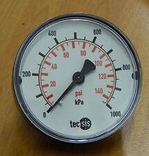 Pressure Gauge 0..1000 kPa / 145 psi 63mm Gauge Rear entry