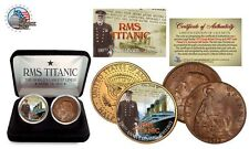 1912 TITANIC 100th Anniversary 2 Coin UK USA Set  Limited of 1,912 RMS Certified