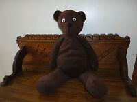 Handmade OOAK Brown Teddy Bear 22 inch Googly Eyes