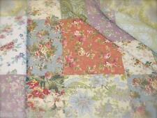 Double Queen Bed Quilt Sham Set Shabby French House Charm Tuscan Wine Roses Chic