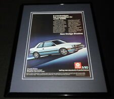 1986 Dodge Shadow 11x14 Framed ORIGINAL Vintage Advertisement