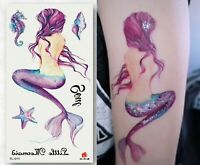 Mermaid Temporary Tattoos Body Art Waterproof Stickers Festival Make Up Party