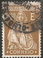 """Portugal Stamp - Scott #420/A85 5e Brown Olive """"Ceres"""" Used/LH 1926"""
