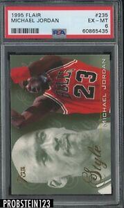 1995 Flair #235 Michael Jordan Chicago Bulls HOF PSA 6 EX-MT