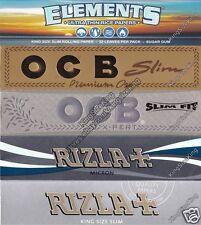 Rizla Kingsize Rolling Papers MEGA SET + OCB King Size Rolling Paper + Elements