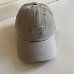 Victorias Secret PINK Hat Baseball Cap Adjustable Light Gray logo Strap