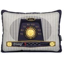 Wouff Barcelona Vintage Styled Radio Rectangular Throw Pillow NWT Retired Design