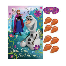 Disney Frozen Anna Elsa Olaf Poster 8 Player Birthday Party Game Set