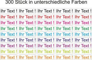 300x Wunsch Text Namen Aufkleber Kindergarten Etiketten Schule Sticker 30x9mm E1