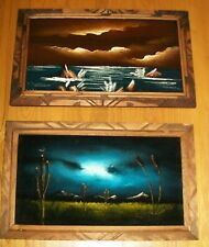 Vintage Black Velvet Paintings, 1970's