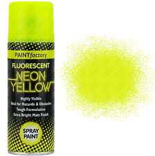 9 x Fluorescent Neon Yellow Spray Paint Matt 200ml Auto Car Creative Paint