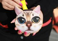 lovely Cat and Dog Face Zipper Case Coin Womens Makeup Bag Purse Wallet