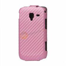 Samsung Galaxy Ace 2 I8160 Carbon Flip Tasche Schutzhülle Case