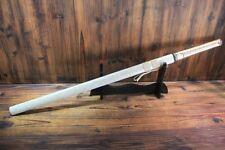 Japanese Hand Forged Gold Silk Line Shirasaya Ninjato Samurai Ninja Sword