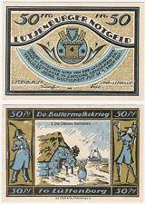 Germany 50 Pfennig 1921 Notgeld Lutjenburg AU-UNC Banknote - No.1