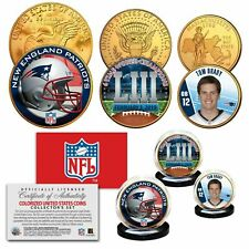 2019 SUPER BOWL 53 CHAMPIONS NEW ENGLAND PATRIOTS - BRADY 24KT GOLD 3 COIN SET!
