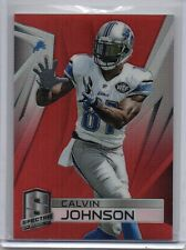 CALVIN JOHNSON Lions 2014 Panini Spectra #34 Red Prizm Refractor Parallel /10 SP