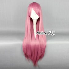"Au Seller! 32"" Lolita Long Pink Straight Party Fancy Anime Cosplay Wig+Free Cap"