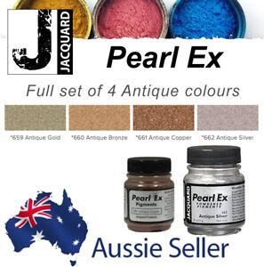 PEARL EX Metallic Mica Powder Pigments - 14g/21g - ANTIQUE Colour Set of 4